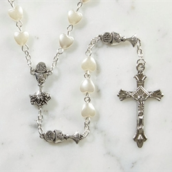 First Communion Heart Rosary