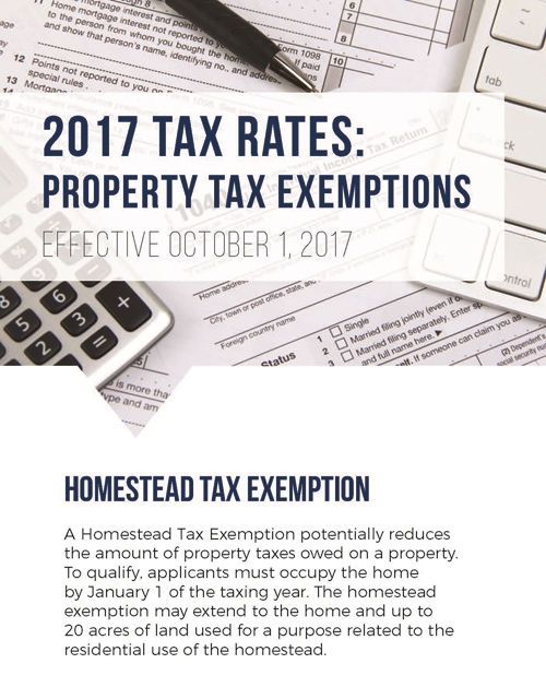 2017 Property Tax Exemptions