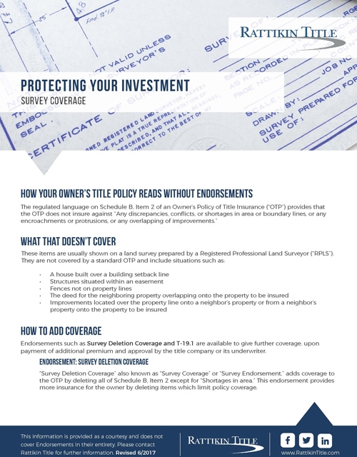 Protecting Your Investment: Survey Coverage
