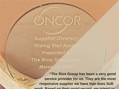 TRG Honored by Oncor as Rising Star Company of the Year