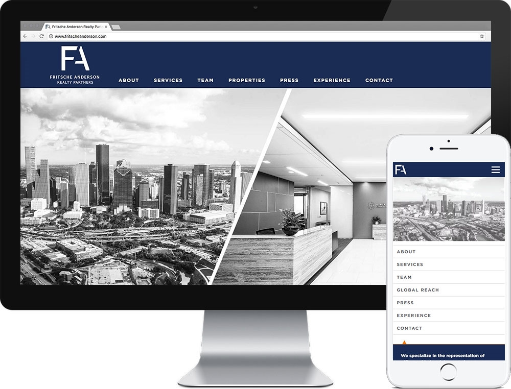 Website for Fritsche Anderson Realty Partners