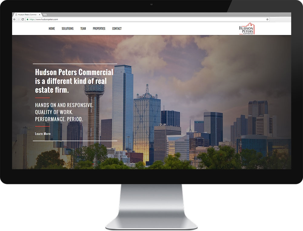 Website for Hudson Peters Commercial