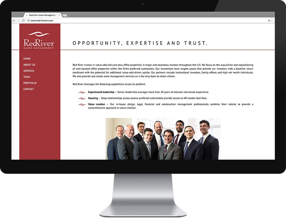 Website for Red River Asset Management