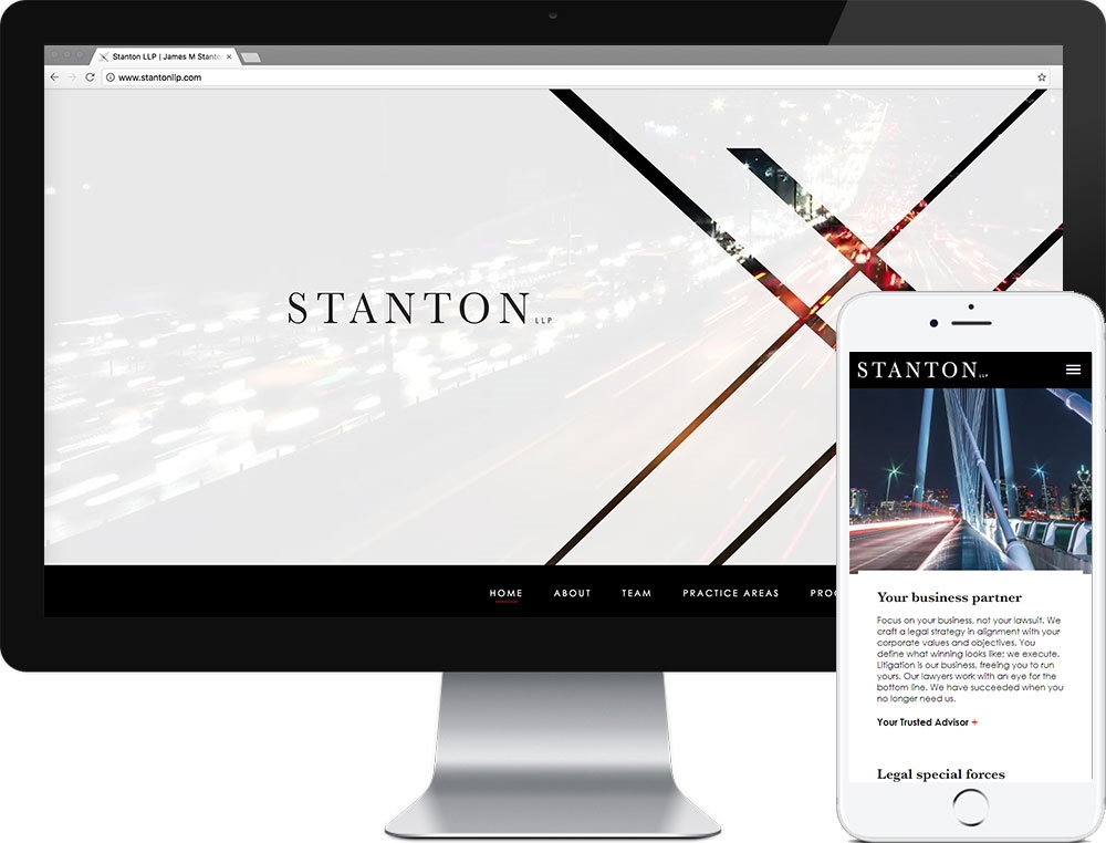 Website for Stanton Law Firm