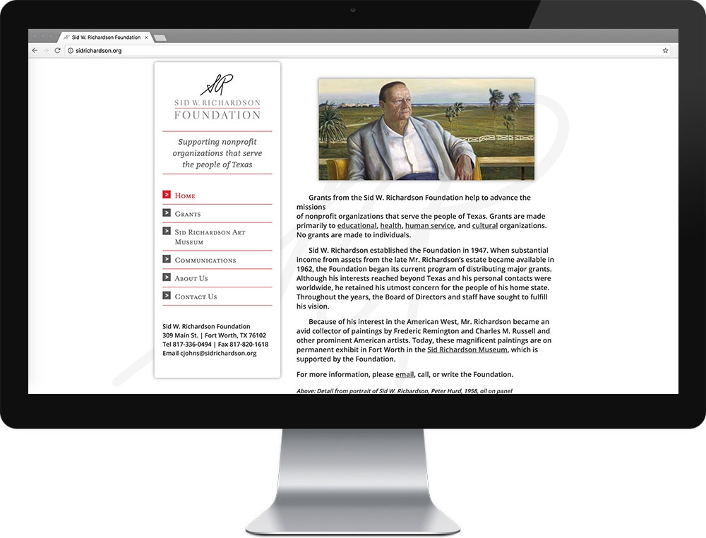 Website for Sid W. Richardson Foundation