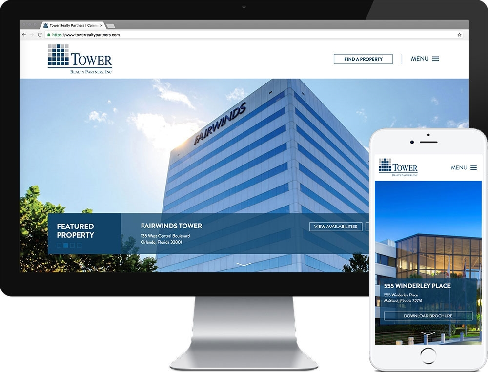 Website for Tower Realty Partners