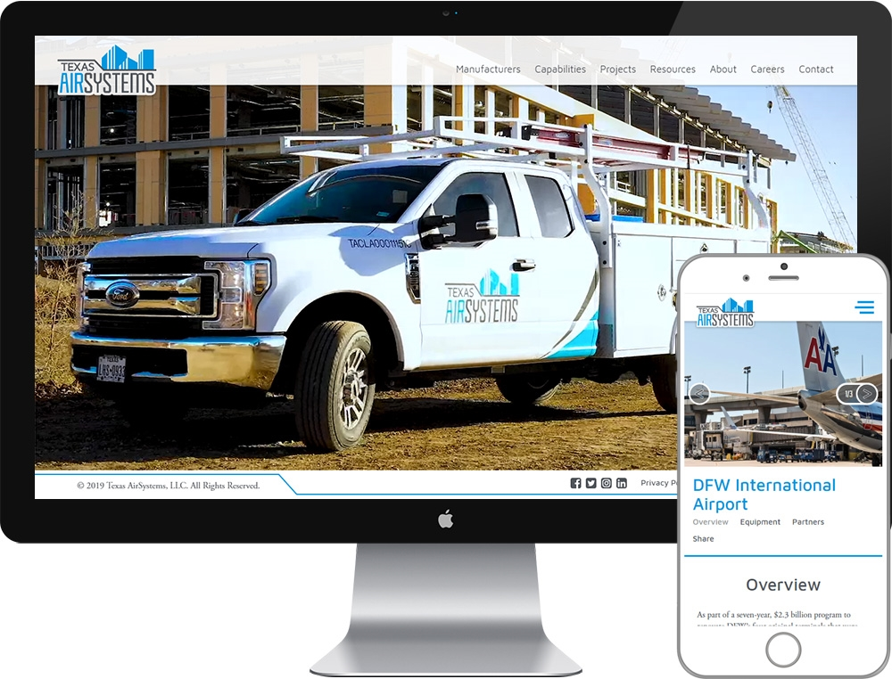 Website for TexasAir Systems