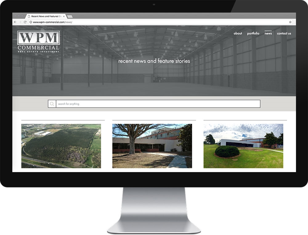 Website for WPM Commercial